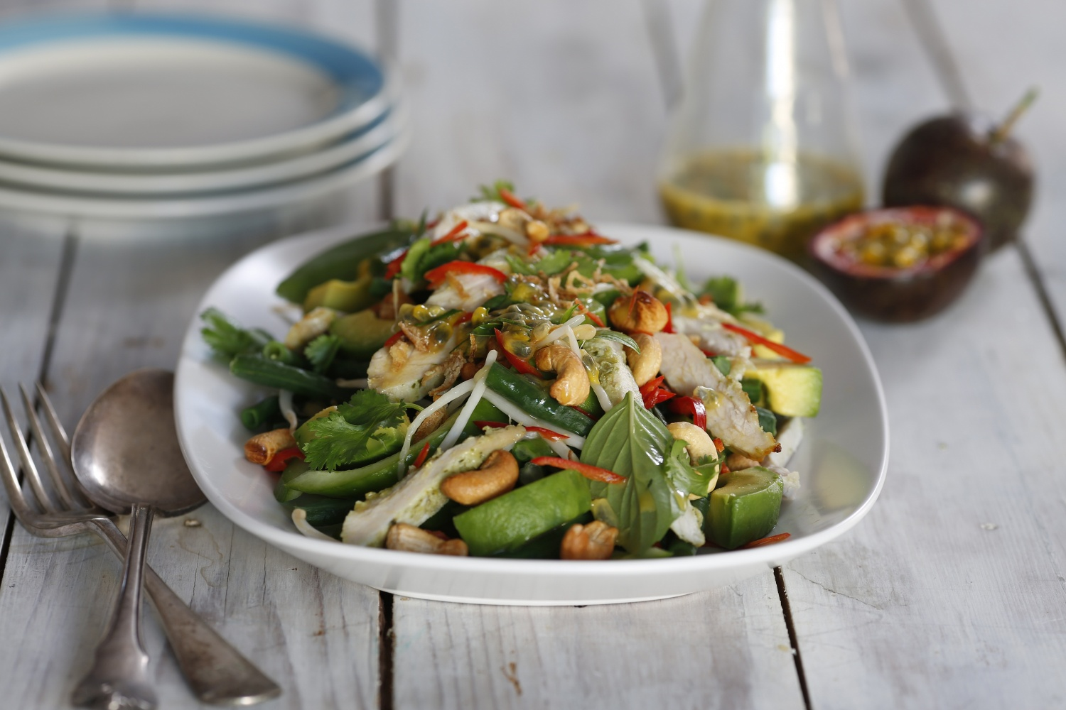 Thai Turkey Salad with snake beans, avocado and passionfruit kaffir lime dressing.jpg