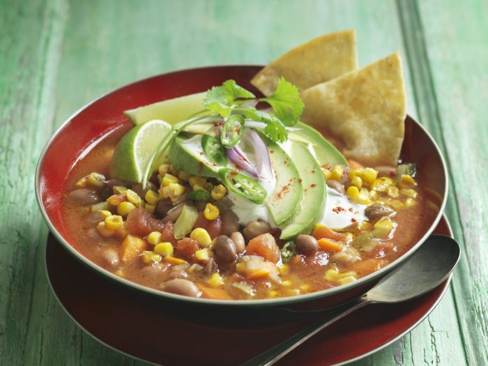 Bean soup with sweetcorn avocado and tortilla crisps.jpg