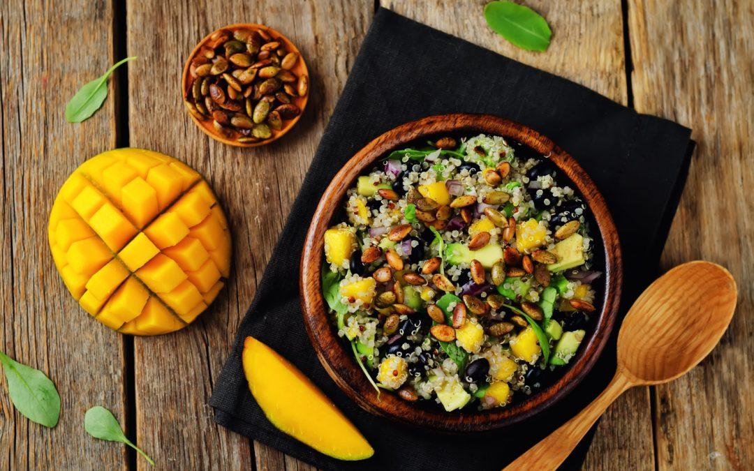 Avocado, mango & quinoa salad