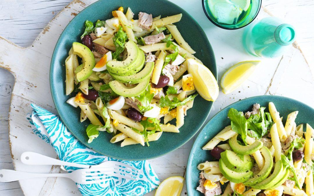 Avo tuna pasta salad