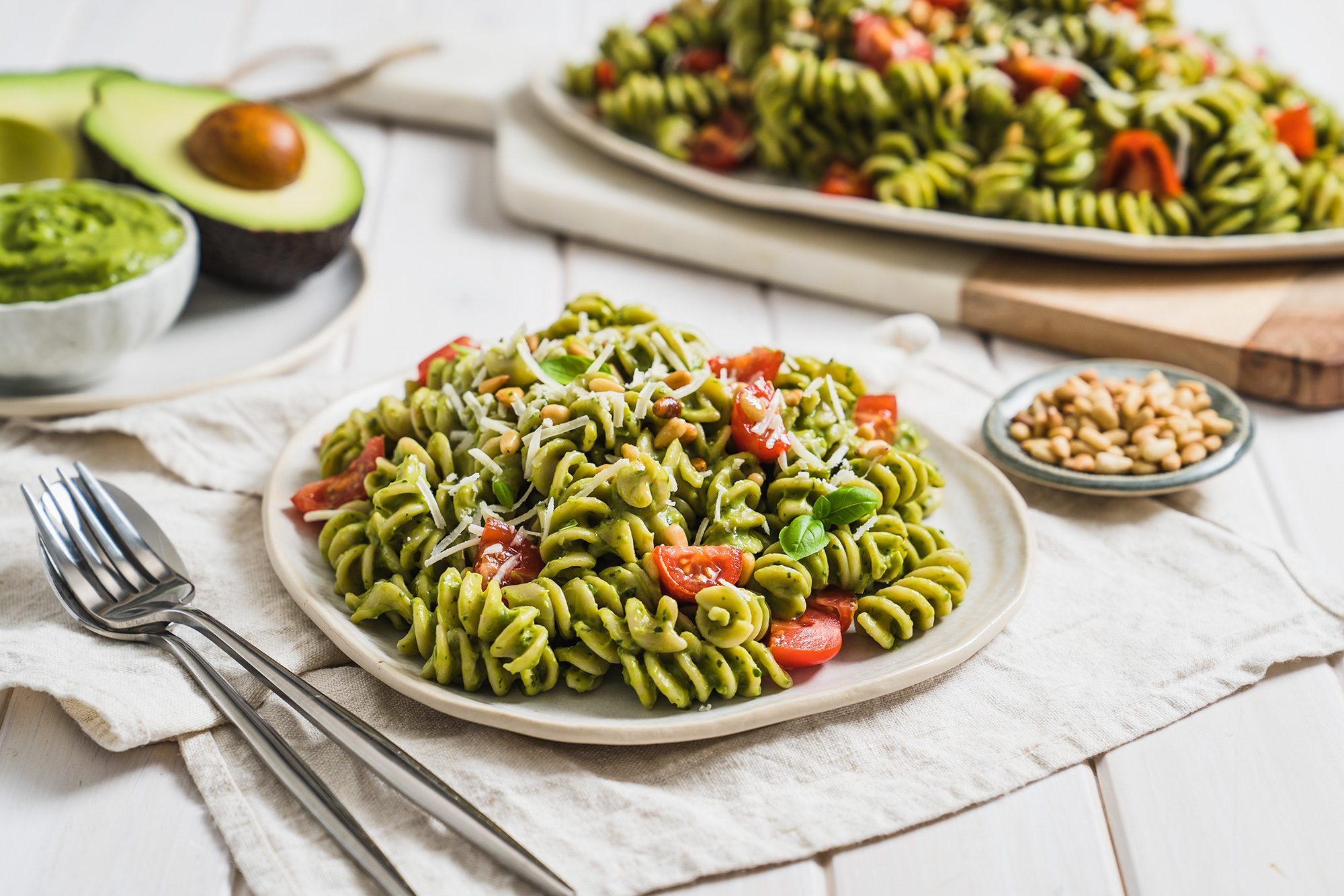 2. Creamy Dreamy Avocado Pasta