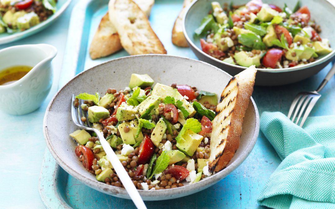 Avocado, Lentil and Tomato Salad