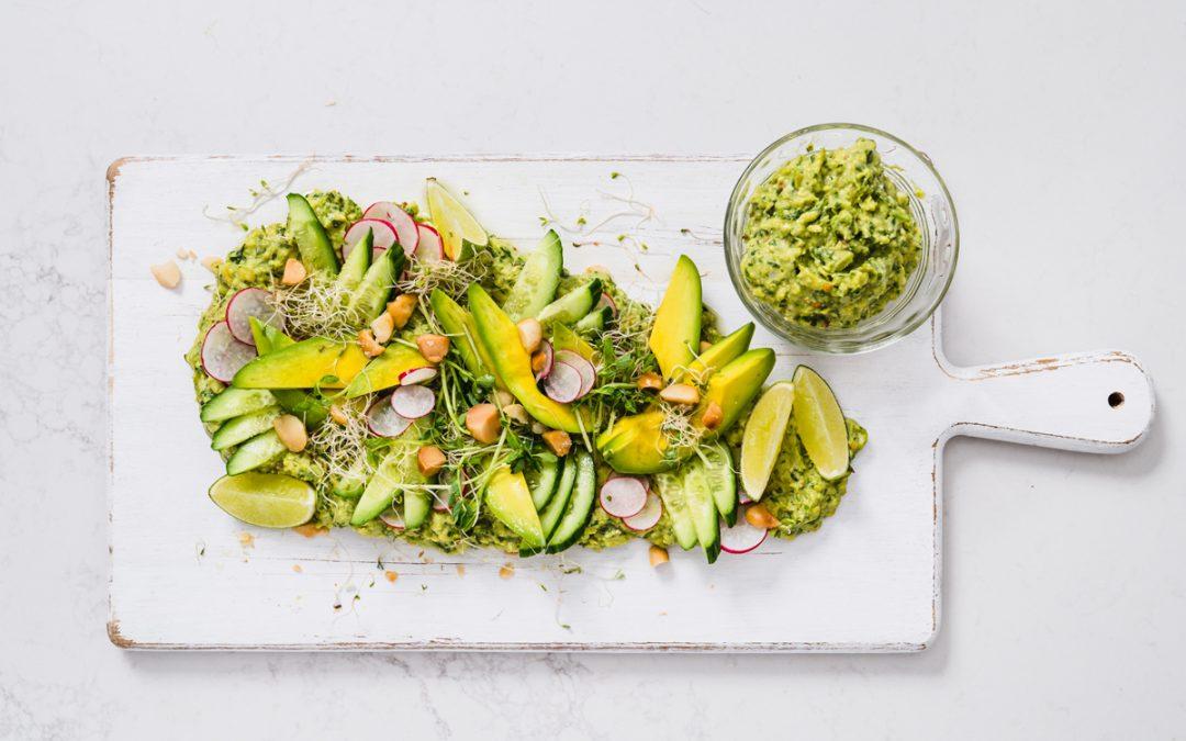 Amazing Avocado Salad with Macadamia and Avocado Pesto