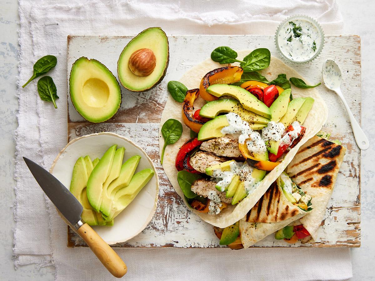 Avocado & Za'atar grilled chicken wrap