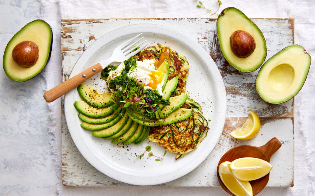 Zucchini and Ricotta Brunch Fritters with Avocado