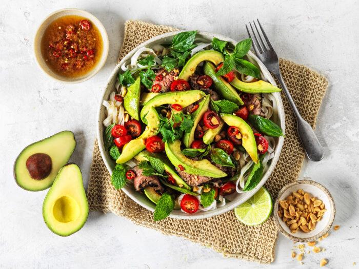 Thai Beef and Avo salad