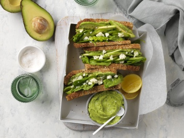Green-is-Good Avocado Salad Sandwiches