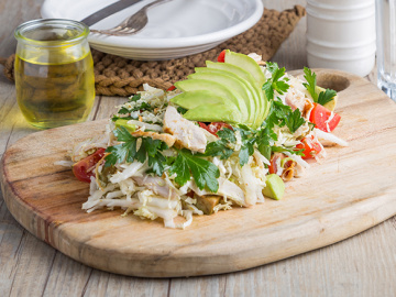 Chicken & avocado salad